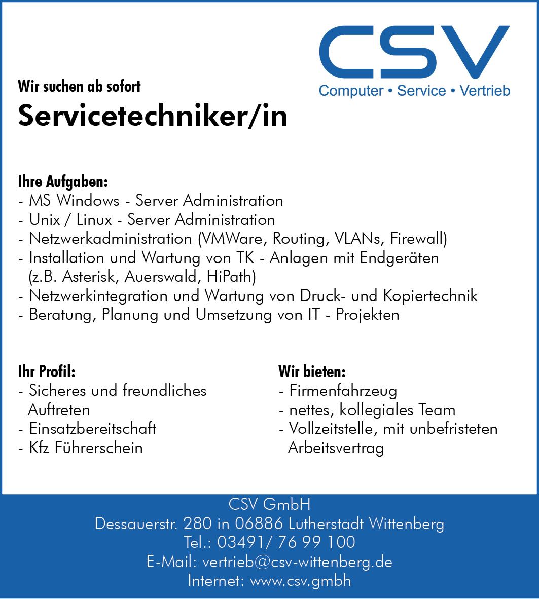 Stellenanzeige_Servicetechniker